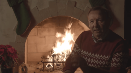 A screenshot from Kevin Spacey's video message © YouTube / Kevin Spacey