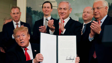 5e2a234185f540235618f28d 'Once in a lifetime opportunity for Israel': Netanyahu to join Trump – but no Palestinians – to unveil 'deal of the century'