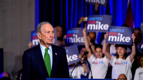 Mike Bloomberg campaigning in Miami, Florida