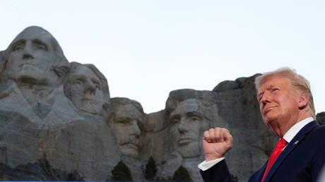 Donald Trump at Mount Rushmore in Keystone, South Dakota, US, July 3, 2020.