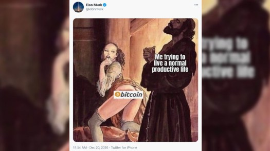 Elon Musk discloses his bitcoin kink and messes with ...