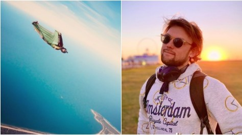Russian-born skydiving star plunges to his death in front of horrified onlookers after parachute fails to open