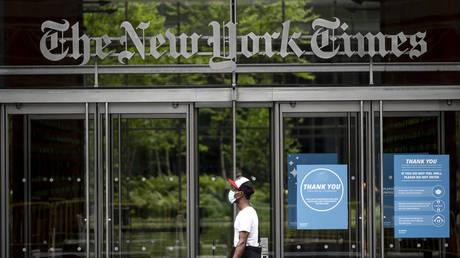FILE PHOTO. The New York Times building. ©Johannes EISELE / AFP