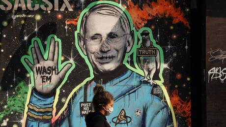 FILE PHOTO: Dr. Anthony Fauci mural in the East Village of New York, September 16, 2020.
