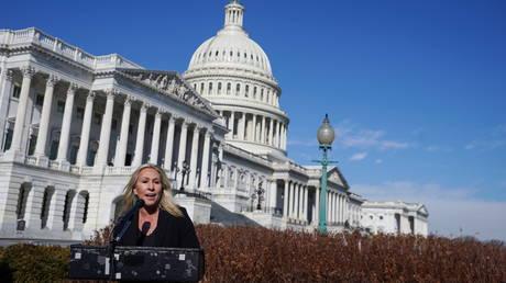 FILE PHOTO: US Representative Marjorie Taylor Greene (R-GA)