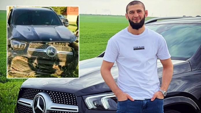 UFC superstar Khamzat Chimaev 'crashes luxury Mercedes gifted to him by Chechen leader Ramzan Kadyrov' (VIDEO)