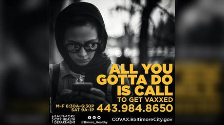 """Baltimore, Maryland has been urging residents to """"get vaxxed"""" using imagery evocative of abuse victims, among other things"""