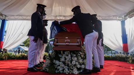 Gunshots and teargas reported at funeral of slain Haitian president Jovenel Moïse