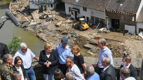 Merkel visits areas ravaged by floods, says Germany needs more climate-focused policy