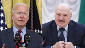 US unveils new sanctions on Belarus over crackdown on protests after Biden meets with opposition figurehead Tikhanovskaya
