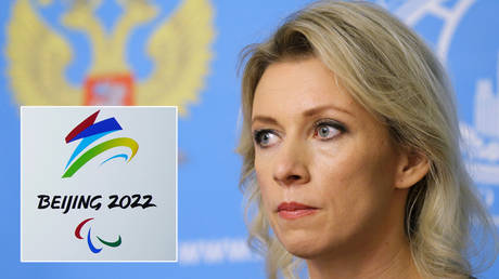 Maria Zakharova has dismissed calls for a boycott of the Beijing 2022 Winter Olympic Games © Aly Song / Reuters | © Maxim Shemetov / Reuters