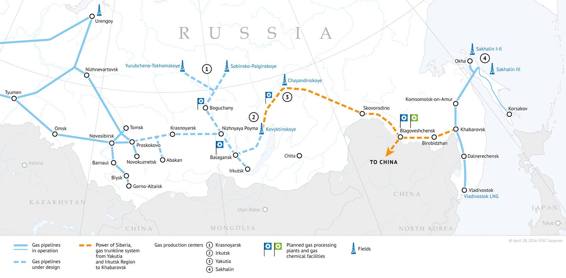 Force de Sibérie, le gazoduc géant reliant la Russie à la Chine, en voie d'achèvement