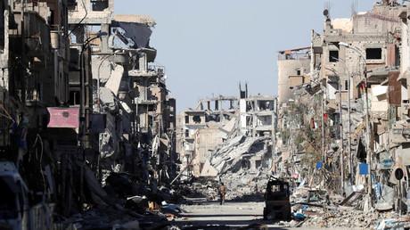 Le centre dévasté de Raqqa, en octobre 2017