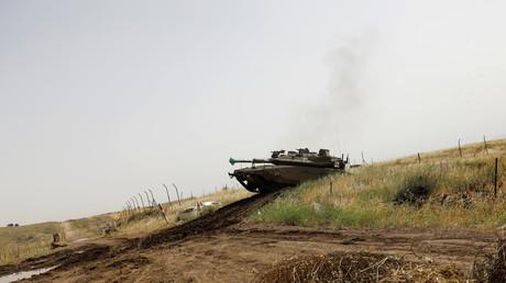 Char israélien dans le plateau du Golan