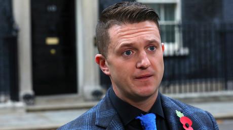 Le militant identitaire britannique Tommy Robinson, s'exprime devant le 10 Downing Street, le 6 novembre 2018 (image d'illustration).