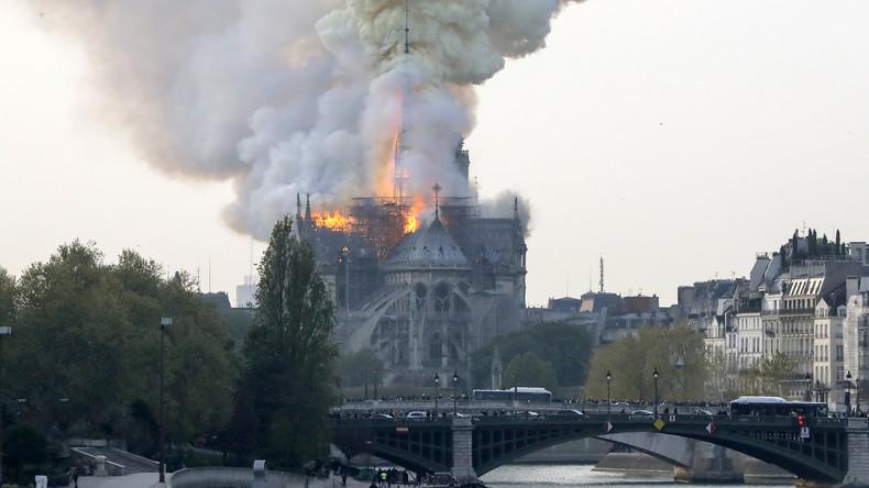«Terrible incendie» en cours à la cathédrale Notre-Dame de Paris (IMAGES)