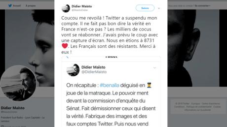 Le compte Twitter du patron de Sud Radio suspendu après sa réponse à des propos sur un Gilet jaune