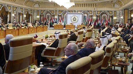 Des dirigeants et des responsables arabes assistant à un sommet de la Ligue arabe réuni au palais royal al-Safa, dans la ville sainte de La Mecque, en Arabie saoudite, le 31 mai 2019.