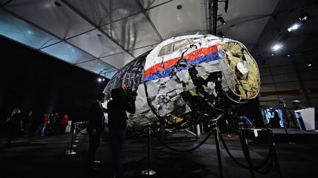 Partie du fuselage de l'avion MH17.