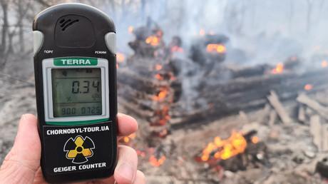 Hausse de la radioactivité à Tchernobyl après un incendie de forêt