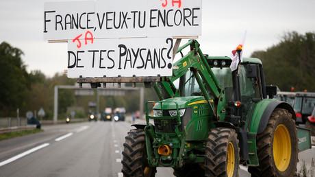 Fumier, gaz lacrymogène et tractopelle : les agriculteurs manifestent à Dijon (IMAGES)