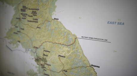 خريطة لشبه الجزيرة الكورية
