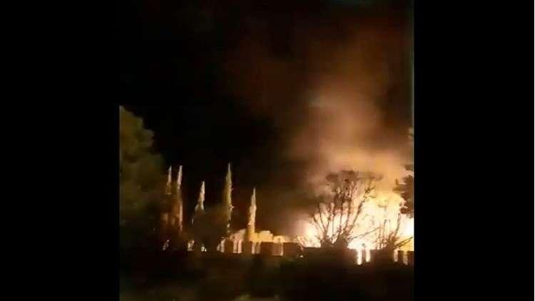 لقطات لتصدي الدفاعات الجوية السورية للصواريخ الإسرائيلية