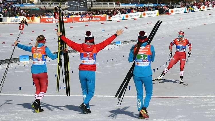 روسيا تحرز برونزية سباق التتابع في بطولة العالم للتزلج