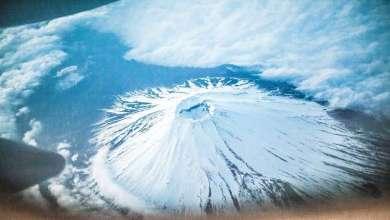 """""""طبق طائر"""" فوق جبل فوجي العلو اليابان! 7"""