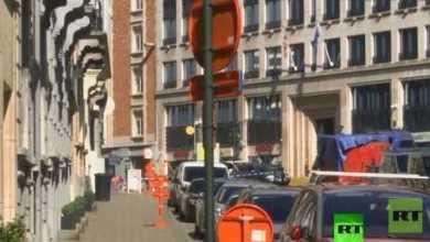 إعلان التأهب العلو بروكسل بعد تلقي الشرطة بلاغا بوجود قنبلة العلو أحد أحياء المدينة 9