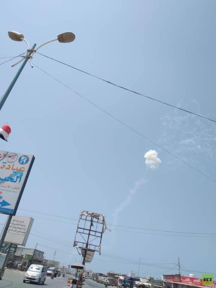 دفاعات التحالف العربي تعترض صاروخا بالسيتيا فوق الساحل الغربي لليمن