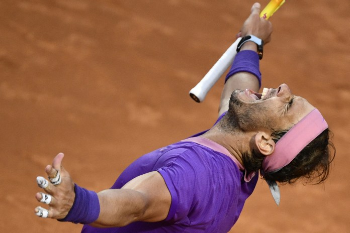 Nadal equates Djokovic with a tenth Masters record in Italy