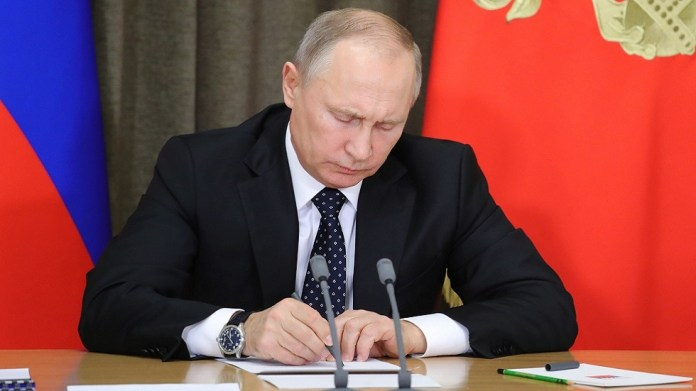 After Washington withdrew from it, Putin ratifies the law of rescinding a treaty