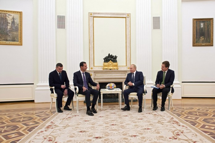 The Kremlin clarifies the reasons for the meeting of Putin and Assad in the Kremlin in the shadow of Corona