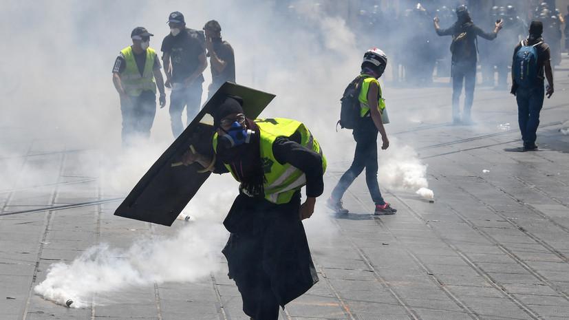"""A rendőrség könnygázt használt a Montpellier-i """"sárga mellény"""" ellen"""