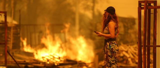 Why is the PKK suspected to have caused wildfires in Turkey?