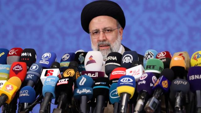 Iran's president-elect Ebrahim Raisi speaks during a news conference in Tehran, Iran on June 21, 2021.
