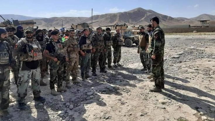 Afghan Commandos arrive to reinforce the security forces in Faizabad the capital of Badakhshan province, after Taliban captured neighborhood districts of Badakhshan recently, July 4, 2021.