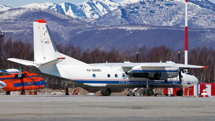 Russian An-26 plane with the tail number RA-26085 is seen in Petropavlovsk-Kamchatsky, Russia in this undated handout image released by Russia's Emergencies Ministry on July 6, 2021.
