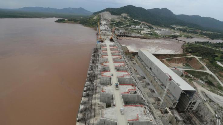 Ethiopia's Grand Renaissance Dam is seen as it undergoes construction work on the river Nile in Guba Woreda, Benishangul Gumuz Region, Ethiopia September 26, 2019.