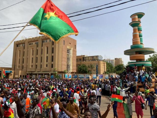 Opposition parties supporters attend a protest to denounce the government's handling of the security situation following attacks by Islamist militants that have killed scores in the past weeks In Ouagadougou, Burkina Faso July 3, 2021.