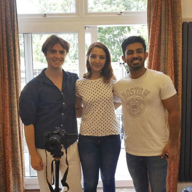From left to right: Project Dastaan co-founders Sam Dalrymple, Saadia Gardezi, and Sparsh Ahuja.