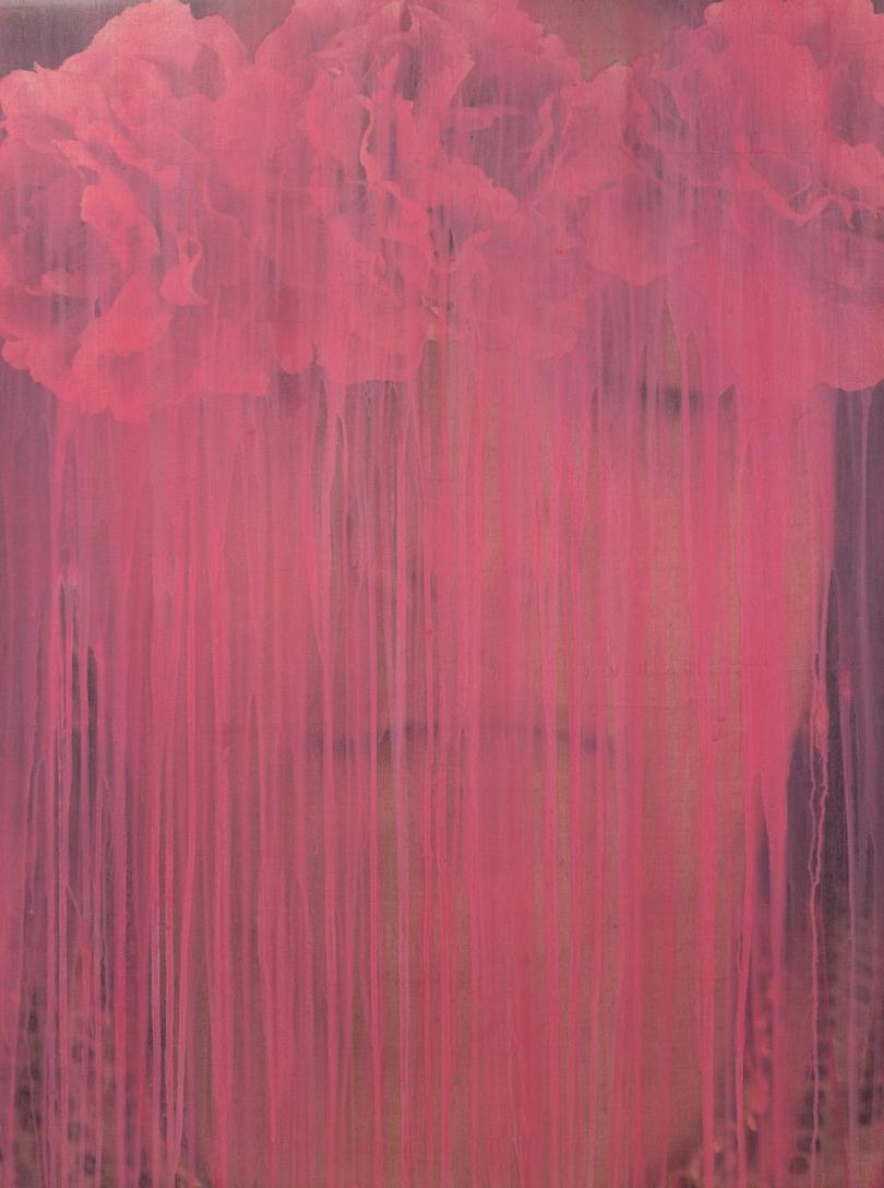 Nazar Yahya, Homage to Twombly, Pink