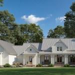 House Plan 41405 Farmhouse Style With 3095 Sq Ft 4 Bed 3 Bath 1 Half Bath