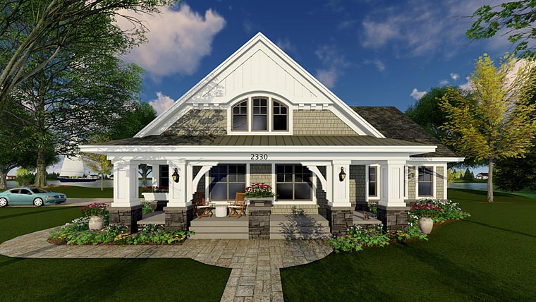 Bungalow Cottage Craftsman Traditional House Plan 42618