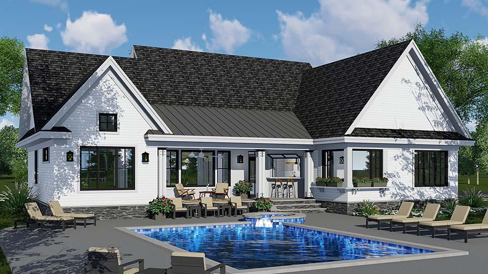 Country Craftsman Farmhouse Southern House Plan 42696