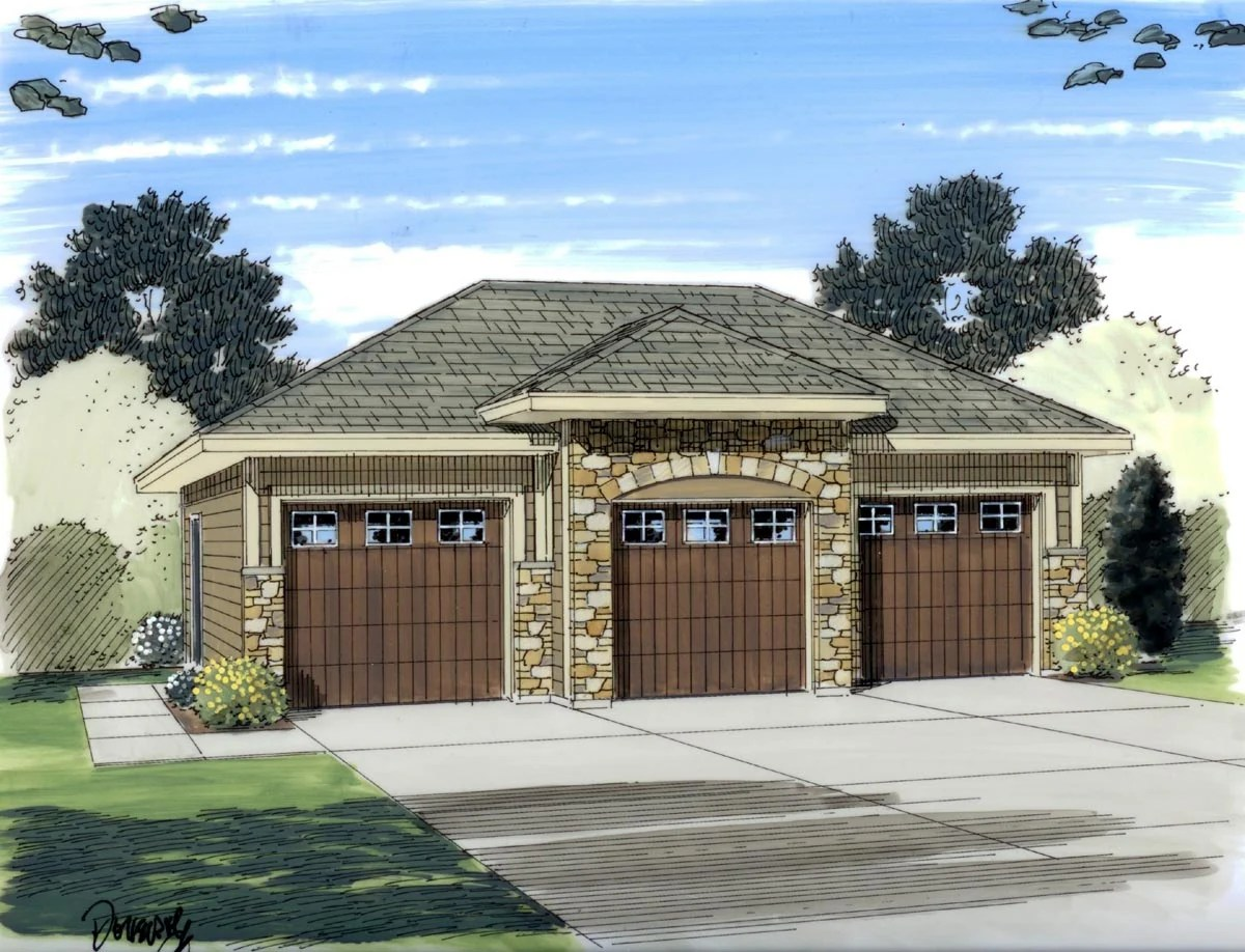 Garage Plan 44060 At FamilyHomePlans.com