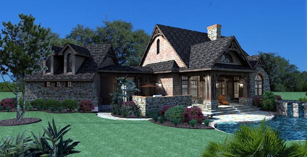 Cottage Craftsman Tuscan House Plan 65866