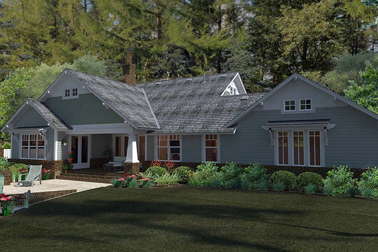 Plan 75137 Bungalow Style House Plan With 3 Bed 2 Bath