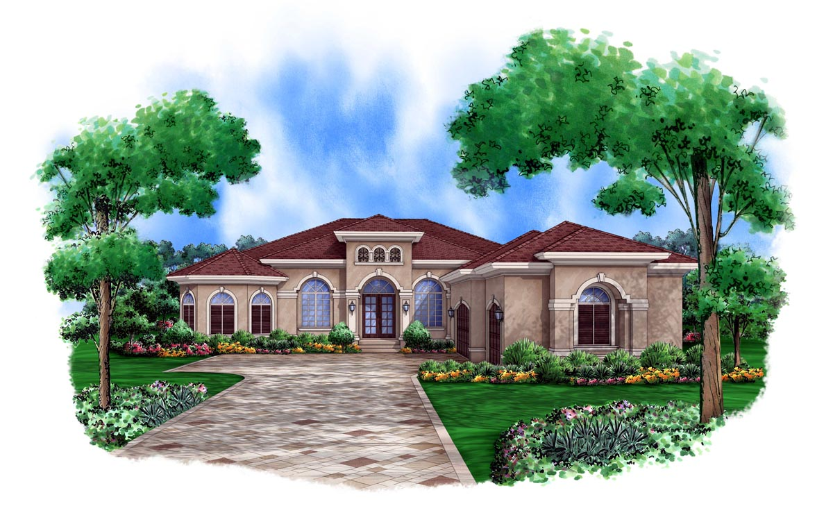 Mediterranean Style House Plan 78105 With 3 Bed, 3 Bath